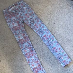 Urban Outfitters High Rise Floral Denim